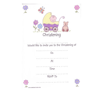 Christening Invitations - Cute Baby