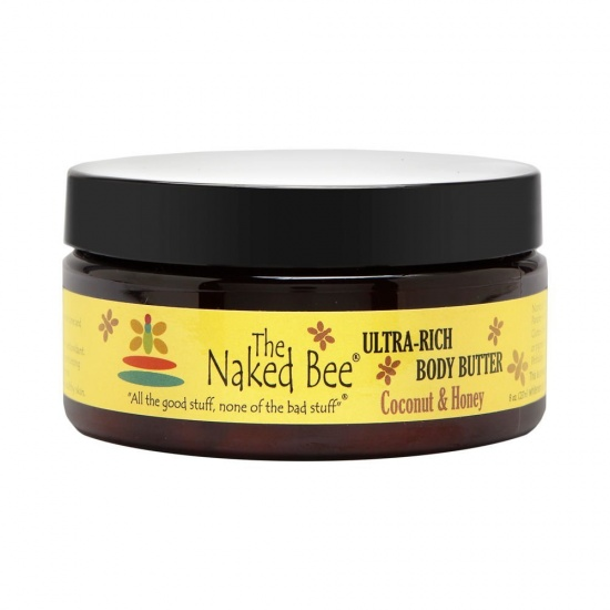 Naked Bee  Coconut and Honey  Body Butter - 8 oz. jar
