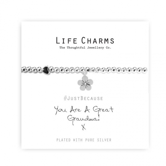 Great Grandma - Silver Plated Bracelet - Life Charms