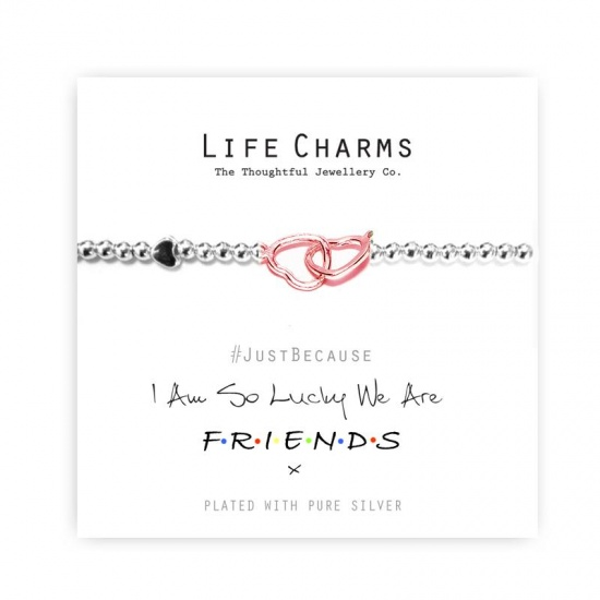 I Am So Lucky We Are F.R.I.E.N.D.S. - Silver Plated Bracelet - Life Charms