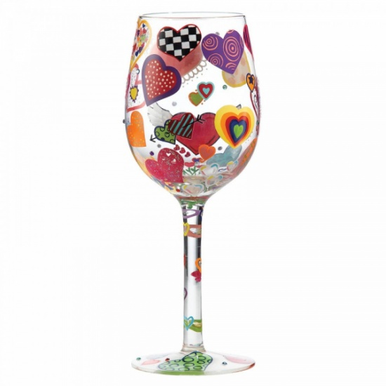 Lolita Heart-rageous Wine Glass - Gift Boxed