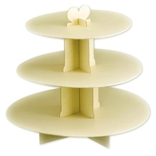 Ivory Card Wedding Cake Stand