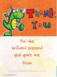 Dinosaur Party Thank You Cards - Pack of 10