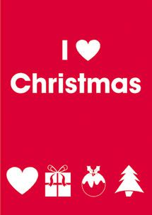 I Love Christmas - Christmas Card