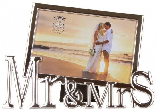 Mr & Mrs Silver Photo Frame