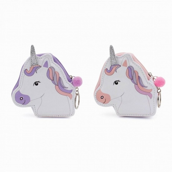 Unicorn Keyring Zip Coin Purse