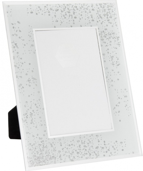 Silver Glitter  4'' x 6'' Picture Photo Frame