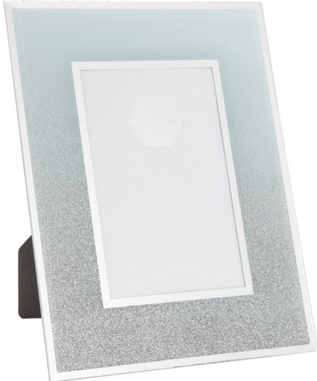 White and Silver Glitter  4'' x 6'' Picture Photo Frame