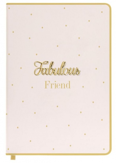 Fabulous Friend Pink A5 Notebook