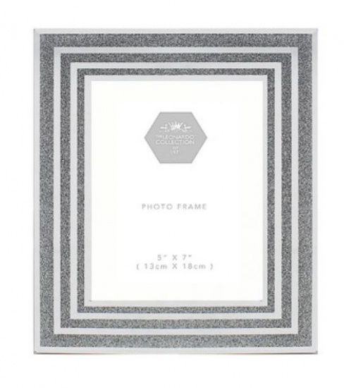 Silver with Glitter  5'' x 7'' Picture Photo Frame