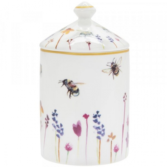 Busy Bees Floral Honey Scented Candle Jar Gift Boxed