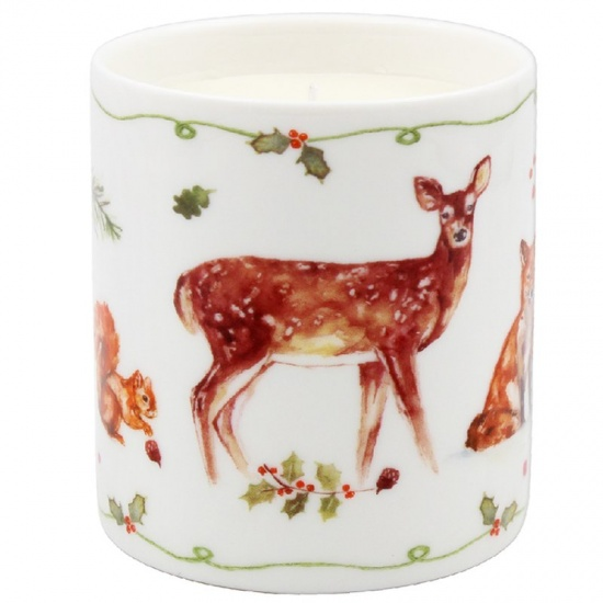 Winter Forest Scented Candle Vanilla & Cinnamon Ceramic Candle Jar Gift Boxed