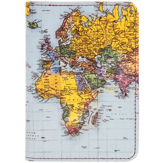 World Traveller Map Print Passport Case / Holder