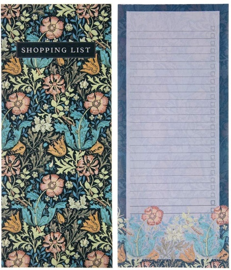 William Morris Compton To Do List Notepad Planner Shopping List Pad