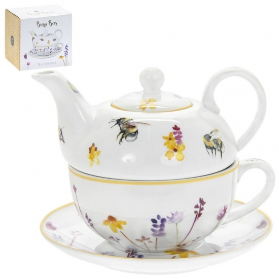 Busy Bees Tea for One - Teapot, Cup and Saucer Set