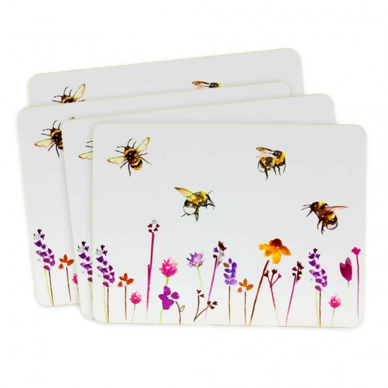 Busy Bees Set Of 4 Placemats Dining Table Place Mats