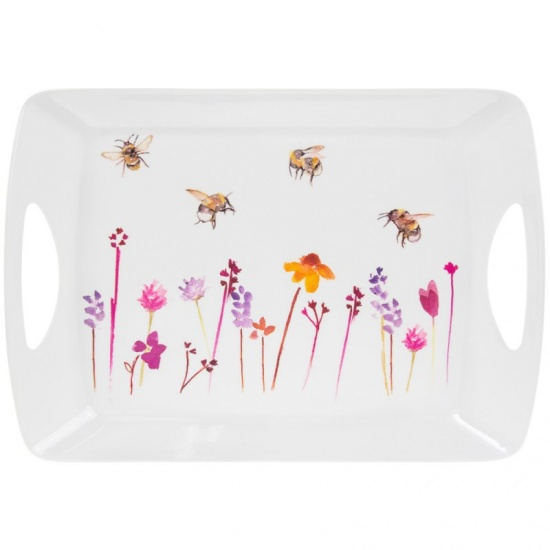 Busy Bees Melamine Decorative Serving Large Dinner Lap Tray