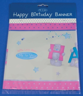 Me To You Bears Tatty Teddy Happy Birthday Party Banner