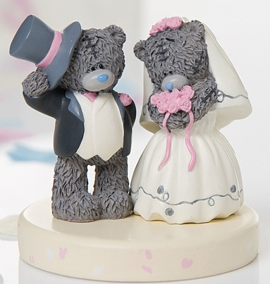 teddy bear wedding cake toppers me to you wedding cake topper pink bouquet 20791