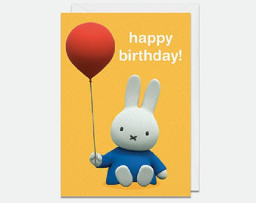 Miffy Happy Birthday with Balloon Greeting Card