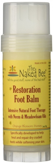 The Naked Bee - Orange Blossom Restoration Foot Balm Stick