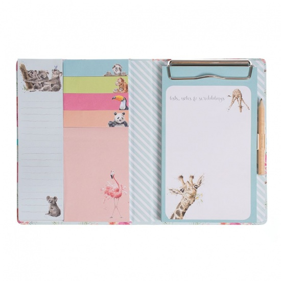 Wrendale Designs Zoology Set Sticky Notes Notebook & Pencil