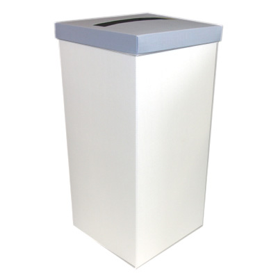 White Wedding Post Box with Blue Lid - Card Receiving Box