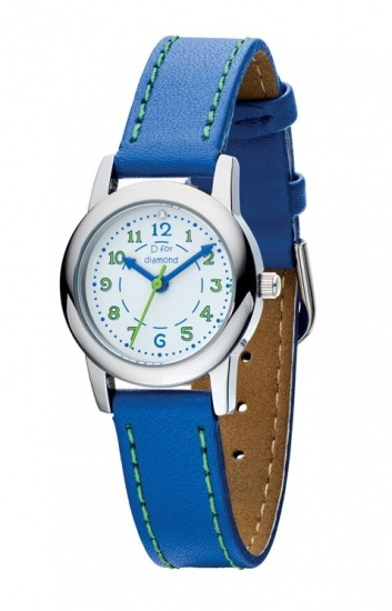 Child's D for Diamond Blue Leather Strap Watch